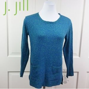 * J. Jill Heather Blue Pullover Tunic Size XS EUC
